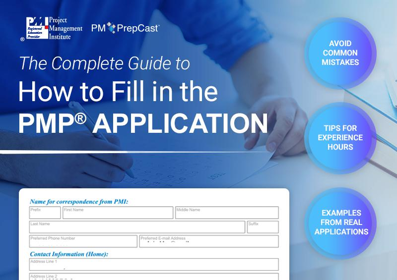 Guide to filling in your PMP Application