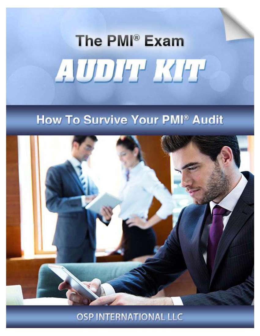 PMI Exam Audit Kit Page