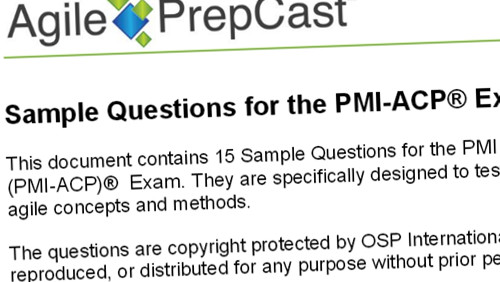 Free PMI-ACP Exam Questions